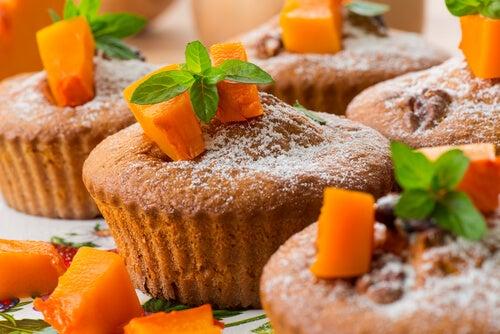 Muffins de calabaza rellenos de crema