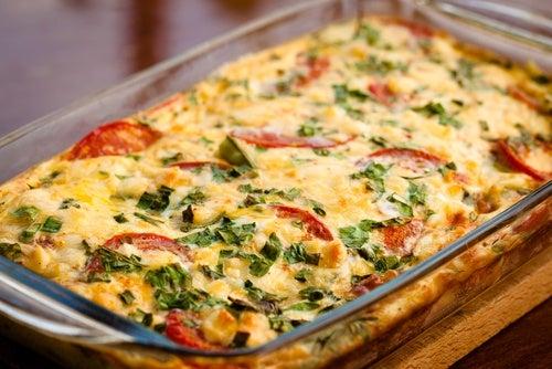 Cómo hacer un gratinado de calabacines y tomates