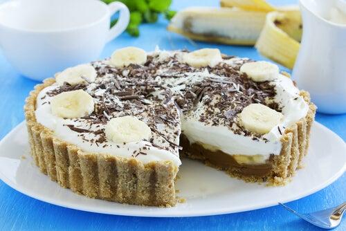 Tarta de banana y crema