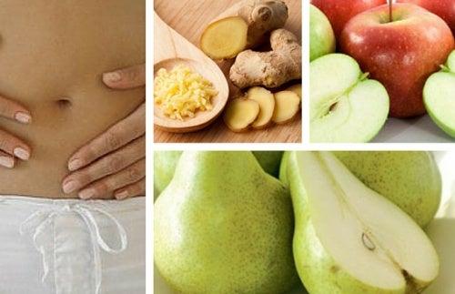 ¿Indigestión? Combátela con zumo de manzana, pera y jengibre