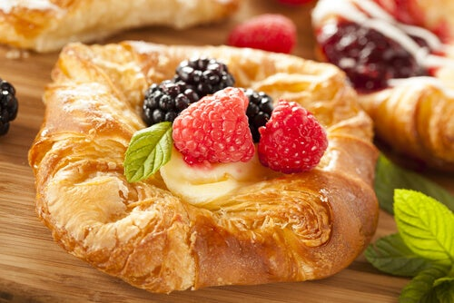 cheesecake danish de fresa