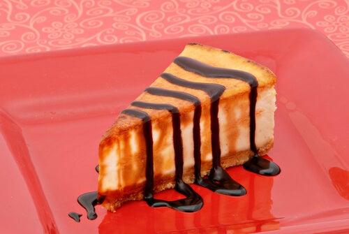 Cheesecake de naranja y chocolate