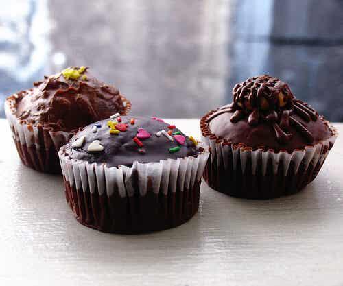 Cupcakes con masa de cookies