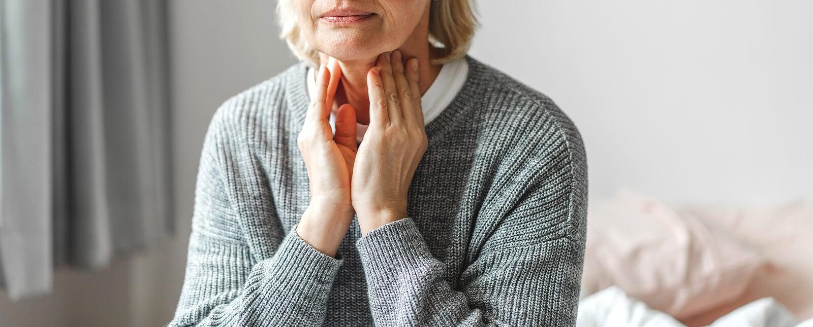 Mixedema como parte de la enfermedad tiroidea.