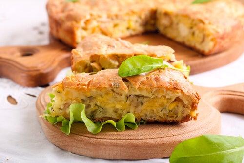 Pastel de pollo con pan de molde