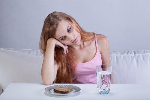 Falta de apetito por bazo inflamado