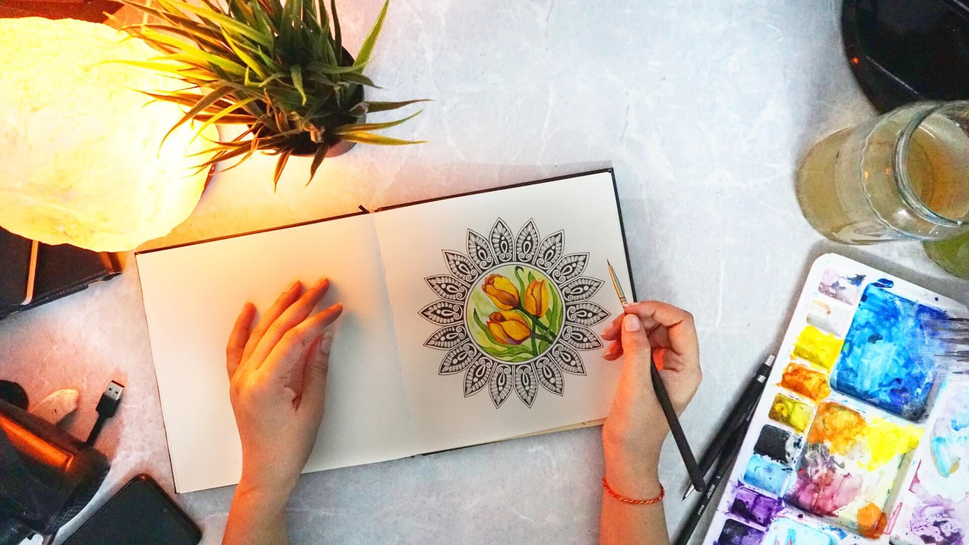Libros para colorear: arte terapéutico para adultos