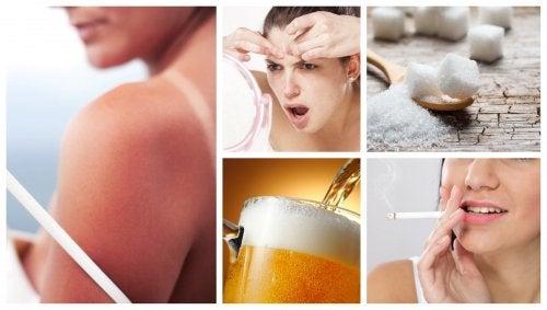 8 hábitos comunes que deterioran la salud del rostro