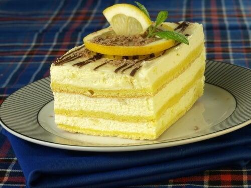 Tarta de mascarpone de limón