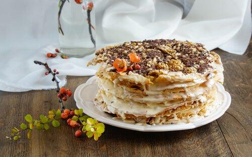 Cómo preparar tarta Napoleón