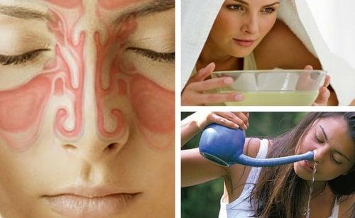 9 remedios caseros para aliviar la sinusitis