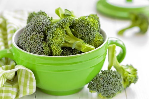 Some broccoli in a bowl.
