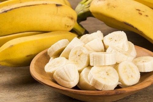 Banana cut on a table