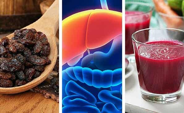 Remedio con remolacha y pasas negras para limpiar el hígado