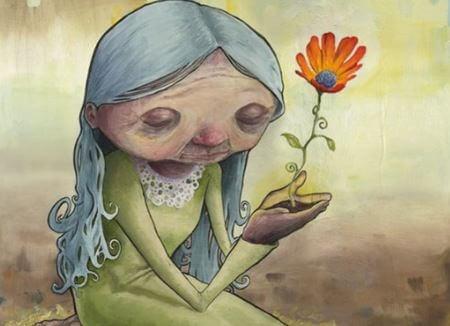 anciana-flor
