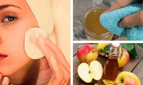 Desmintiendo los beneficios del vinagre de manzana para lavar el rostro