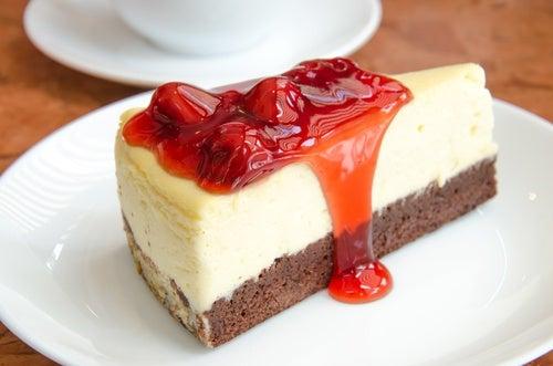 Dulces sin azúcares: cheesecake de arándanos