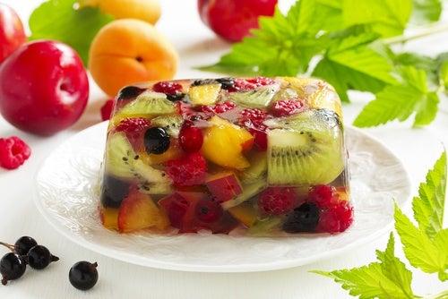 la gelatina de frutas