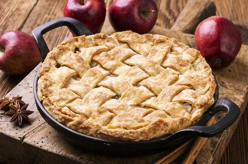 Tarta de manzana: repostería vegana