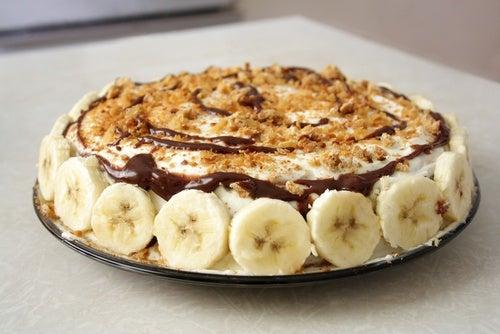Deliciosa receta de torta de plátano