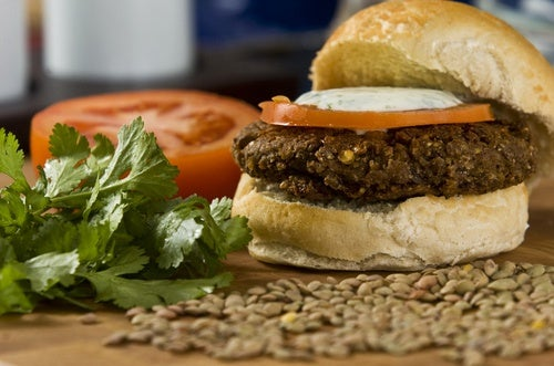 A disfrutar de tus hamburguesas sanas.