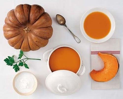 Cómo hacer sopa de calabaza y jengibre