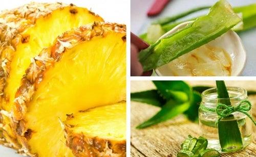 receta de pina y sabila para adelgazar