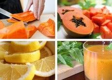 Licuado de papaya y limón para desintoxicar el estómago