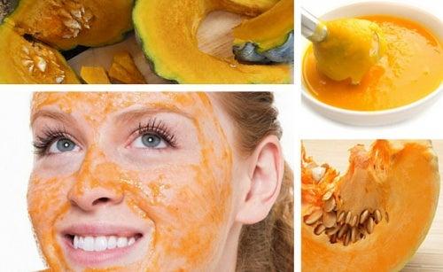 Mascarilla facial de calabaza para atenuar las manchas y arrugas