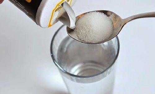 Warm water with salt