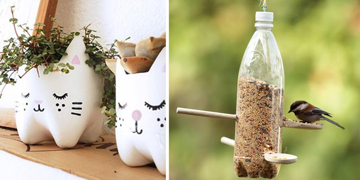12 creativas formas de reutilizar las botellas de plástico en el hogar