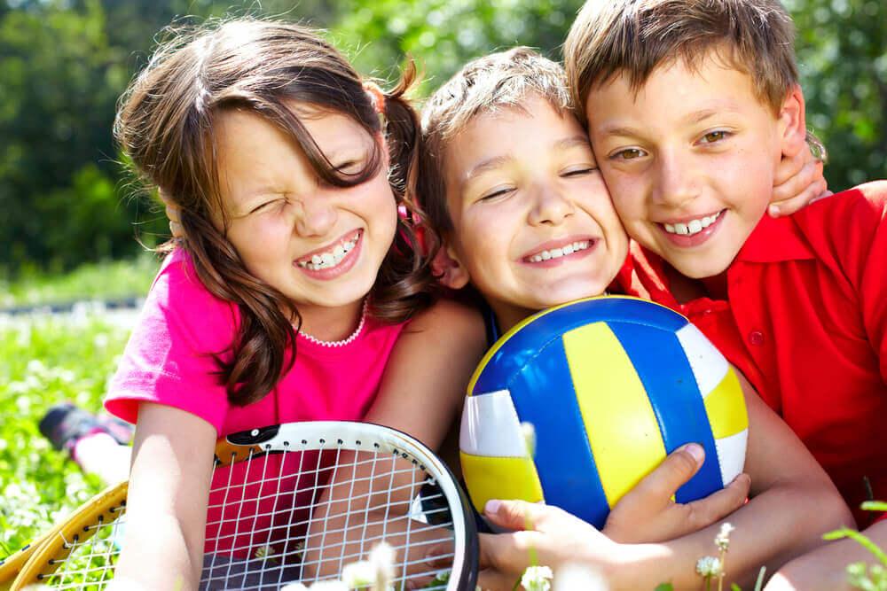 Niños en un equipo deportivo