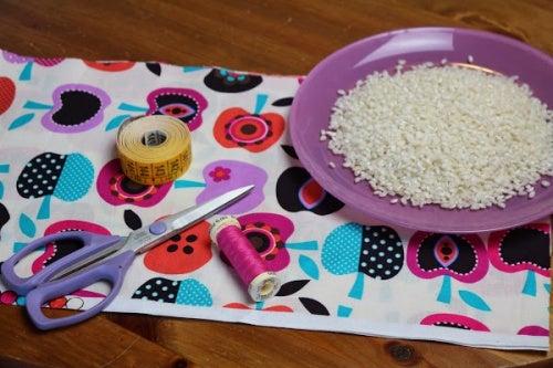 Materiales para elaboración de saco térmico de semillas
