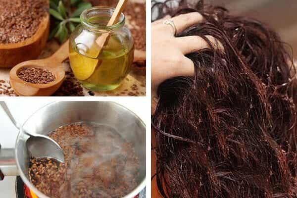 Gel ecológico de semillas de lino para el cabello
