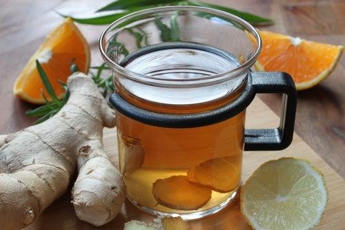 Detox de limão, canela e gengibre