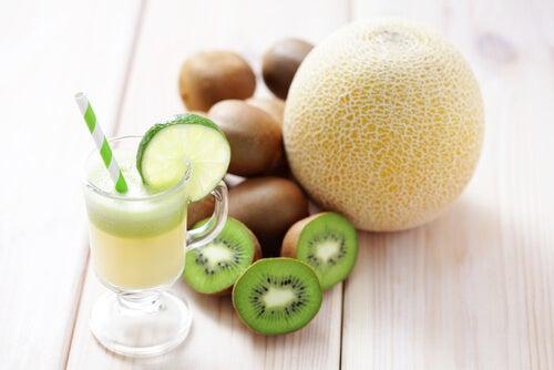 Jugo de kiwi y melón