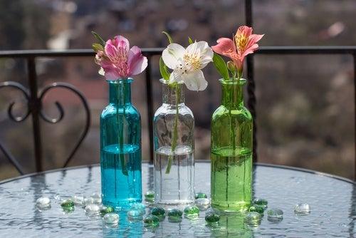 Reutiliza los frascos de cristal