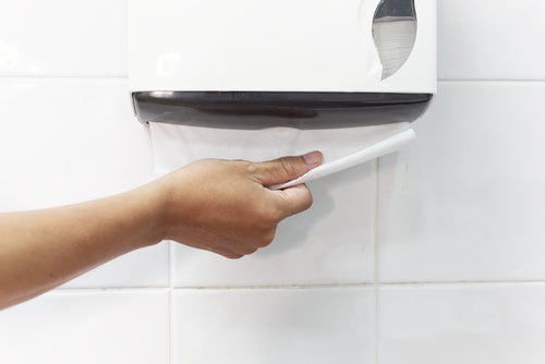 higiene en baños públicos
