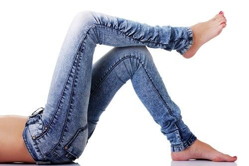 Usar jeans ajustados
