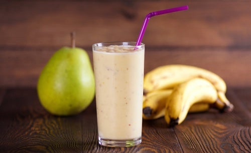banana y pera