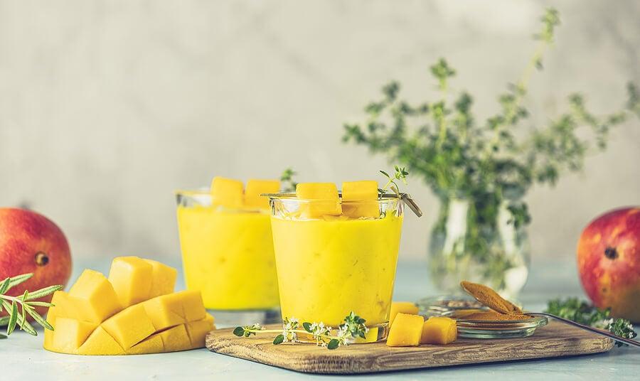Variaciones del batido de mango y jengibre