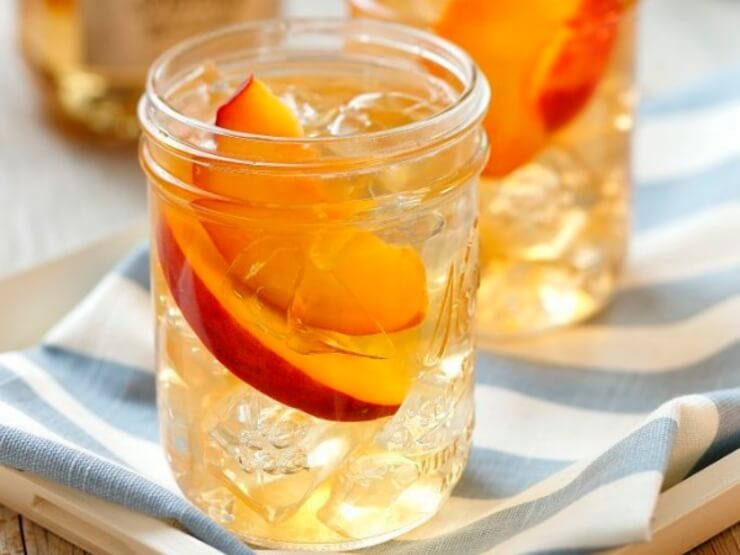 Licuado de té blanco, linaza y melocotón para perder peso