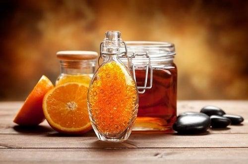 desayuno medicinal con naranja y miel