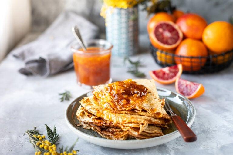 Desayunos con naranja y miel, una opción saludable