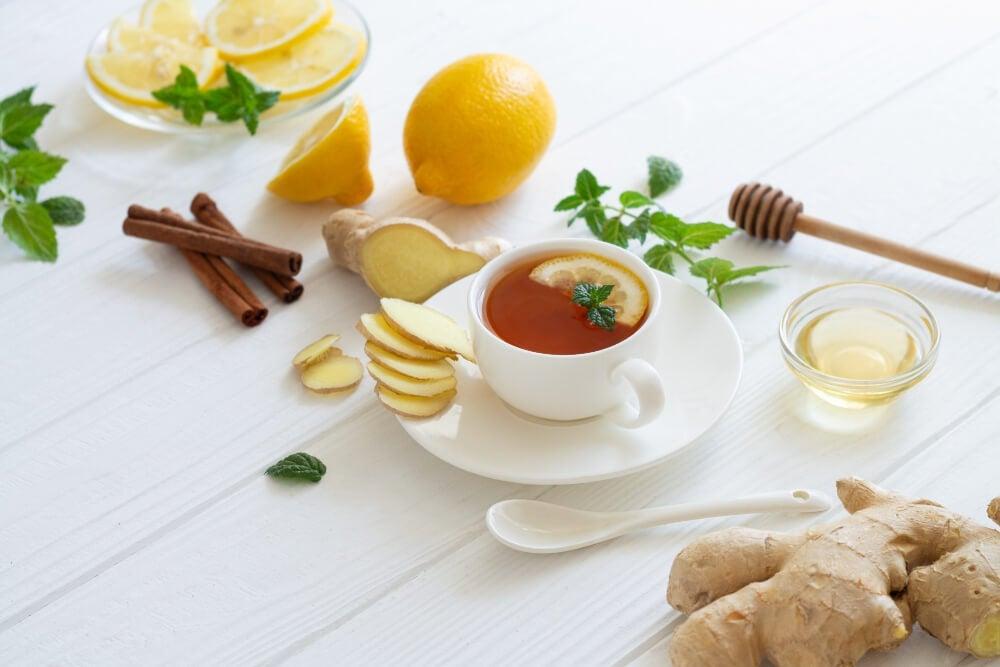 remedio con limón canela y jengibre