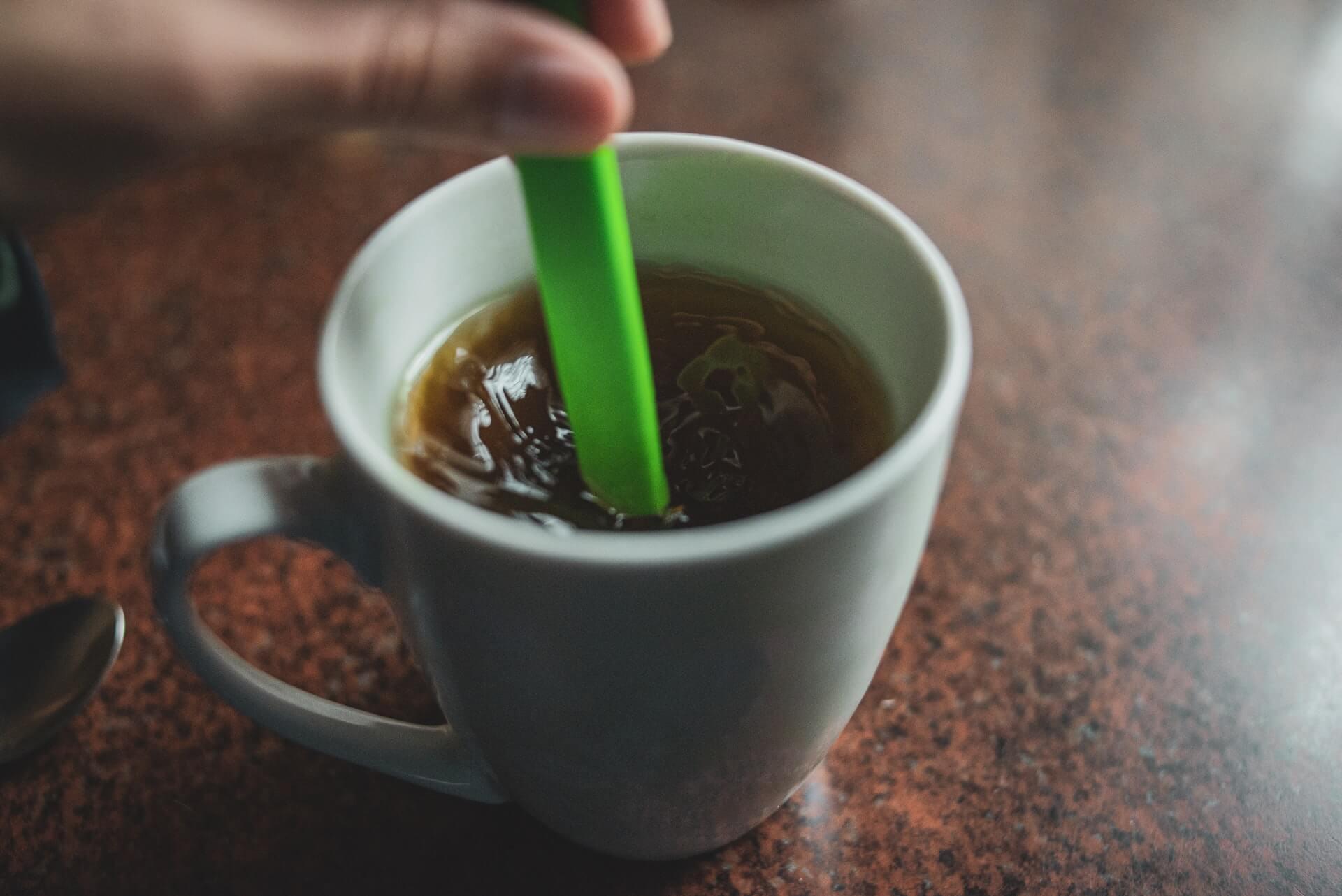 Taza de café para trabajar.