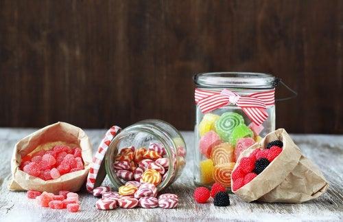 Golosinas con azúcar