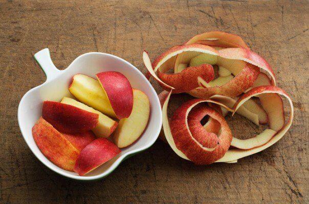 La cáscara de manzana para desinflamar y más