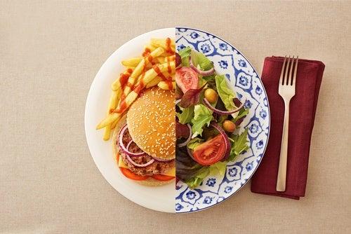Comer saludable solo de lunes a viernes