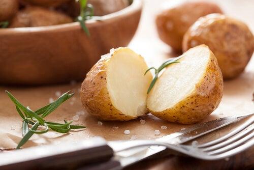 La patata es rica en yodo